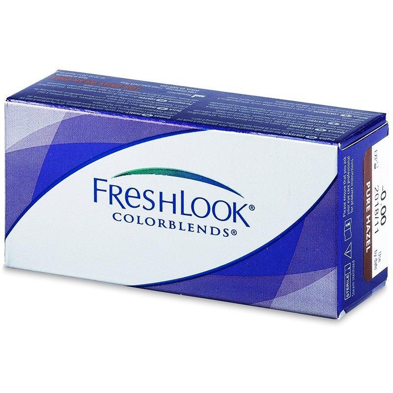 lentile de contact colorate cu dioptrii freshlook colorblends - cu dioptrie 2buc.