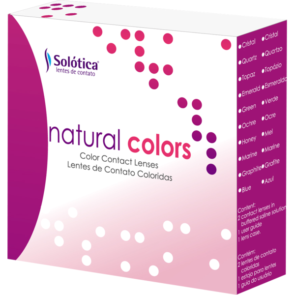 Solotica Natural Colors Topazio - lentile de contact colorate albastre anuale - 365 purtari (2 lentile/cutie)